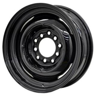 SPECIAL BUY WHEELS  HOTRODHANKS STEEL GENNIE GLOSS BLACK RIM - Cap Not Included