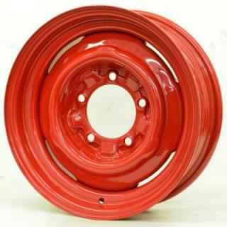 SPECIAL BUY WHEELS  HOTRODHANKS STEEL OE BARON RED RIM - Cap Not Included