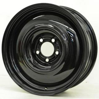 SPECIAL BUY WHEELS  HOTRODHANKS STEEL PT SMOOTHIE BLACK - Cap Not Included
