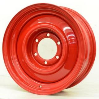 SPECIAL BUY WHEELS  HOTRODHANKS STEEL SMOOTHIE BARON RED - Cap Not Included