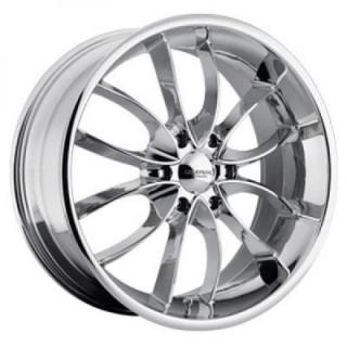 LIQUID METAL WHEELS  WISHBONE CHROME PLATED RIM