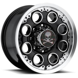 PATROL BLACK RIM with MACHINED FACE by AMERICAN OUTLAW WHEELS