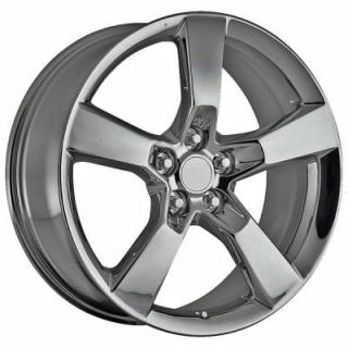 FACTORY REPRODUCTIONS WHEELS  CHEVY CAMARO 2010 STYLE 30 PVD BLACK CHROME RIM
