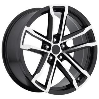FACTORY REPRODUCTIONS WHEELS  CHEVY CAMARO ZL1 2012 STYLE 41 BLACK RIM with MACHINED FACE