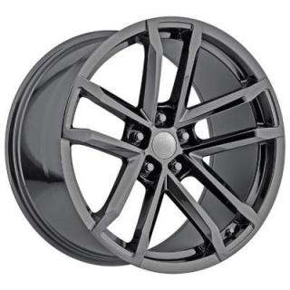 FACTORY REPRODUCTIONS WHEELS  CHEVY CAMARO ZL1 2012 STYLE 41 PVD BLACK CHROME RIM
