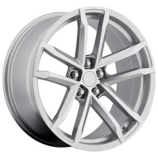 FACTORY REPRODUCTIONS WHEELS  CHEVY CAMARO ZL1 2012 STYLE 41 SILVER RIM with MACHINED FACE