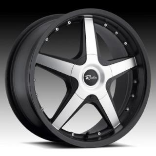 SPECIAL BUY WHEELS  RACELINE 191M CAYMAN BLACK RIM with MACHINED FACE
