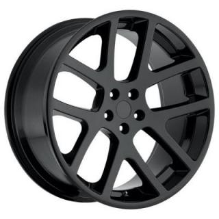 FACTORY REPRODUCTIONS WHEELS  JEEP VIPER STYLE 64 GLOSS BLACK RIM