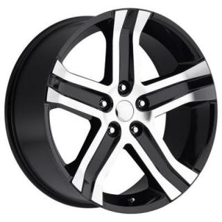 FACTORY REPRODUCTIONS WHEELS  DODGE RAM RT 2013 STYLE 69 BLACK MACHINED FACE RIM