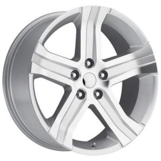 FACTORY REPRODUCTIONS WHEELS  DODGE RAM RT 2013 STYLE 69 SILVER MACHINED FACE RIM
