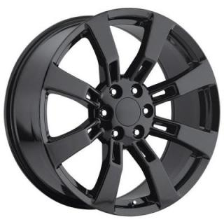 FACTORY REPRODUCTIONS WHEELS  GMC DENALI/ESCALADE 2009 STYLE 40 GLOSS BLACK RIM
