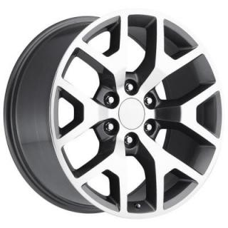 FACTORY REPRODUCTIONS WHEELS  GMC SIERRA 2014 STYLE 44 GREY MACHINED FACE RIM