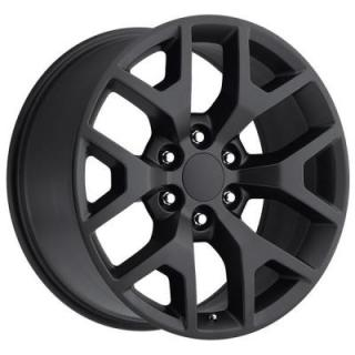 FACTORY REPRODUCTIONS WHEELS  GMC SIERRA 2014 STYLE 44 SATIN BLACK RIM