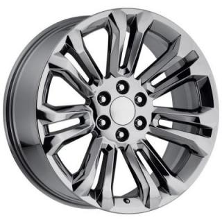 FACTORY REPRODUCTIONS WHEELS  GMC 2015 STYLE 55 PVD BLACK CHROME RIM