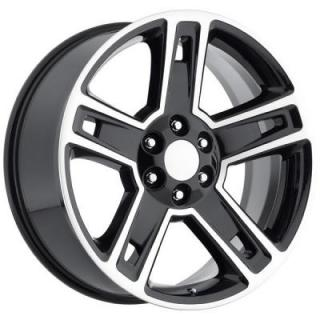 CHEVY 2015 SILVERADO 1500 STYLE 34 BLACK MACHINED FACE RIM from FACTORY REPRODUCTIONS WHEELS