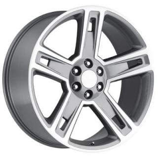 CHEVY 2015 SILVERADO 1500 STYLE 34 GREY MACHINED FACE RIM from FACTORY REPRODUCTIONS WHEELS