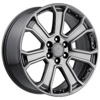 FACTORY REPRODUCTIONS WHEELS  GMC 2015 YUKON DENALI STYLE 49 PVD BLACK CHROME RIM
