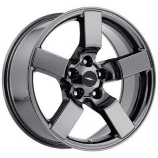 FACTORY REPRODUCTIONS WHEELS  FORD LIGHTNING 2001 STYLE 50 PVD BLACK CHROME RIM