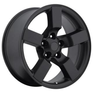 FACTORY REPRODUCTIONS WHEELS  FORD LIGHTNING 2001 STYLE 50 SATIN BLACK RIM