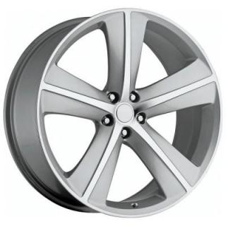 FACTORY REPRODUCTIONS WHEELS  DODGE CHALLENGER SRT8 STYLE 62 SILVER RIM with MACHINED ACCENTS
