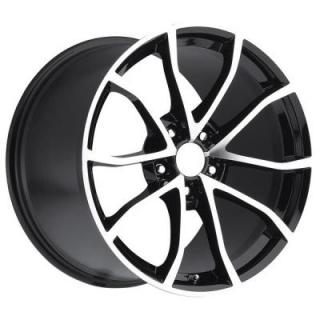 FACTORY REPRODUCTIONS WHEELS  CORVETTE CUP C6 2012 STYLE 25 BLACK MACHINED FACE RIM