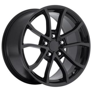 FACTORY REPRODUCTIONS WHEELS  CORVETTE CUP C6 2012 STYLE 25 GLOSS BLACK RIM