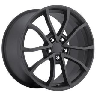 FACTORY REPRODUCTIONS WHEELS  CORVETTE CUP C6 2012 STYLE 25 SATIN BLACK RIM
