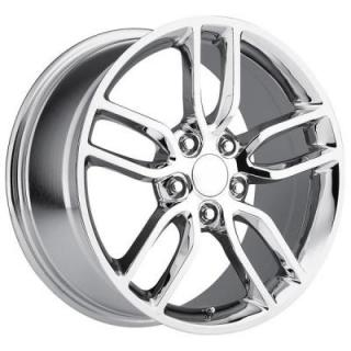 FACTORY REPRODUCTIONS WHEELS  CORVETTE Z51 2015 STYLE 26 CHROME RIM