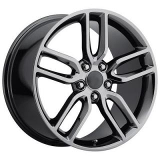 FACTORY REPRODUCTIONS WHEELS  CORVETTE Z51 2015 STYLE 26 PVD BLACK CHROME RIM