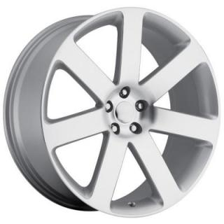FACTORY REPRODUCTIONS WHEELS  CHRYSLER 300C SRT8 2012 STYLE 67 SILVER MACHINED FACE RIM