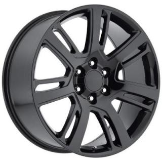 FACTORY REPRODUCTIONS WHEELS  CADILLAC ESCALADE 2015 STYLE 48 GLOSS BLACK RIM