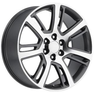 FACTORY REPRODUCTIONS WHEELS  CADILLAC ESCALADE 2015 STYLE 48 GREY MACHINED FACE RIM