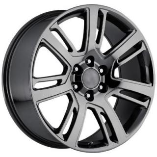 FACTORY REPRODUCTIONS WHEELS  CADILLAC ESCALADE 2015 STYLE 48 PVD BLACK CHROME RIM