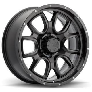 M19 MATTE BLACK RIM with DRILL HOLES by MAMBA OFFROAD WHEELS