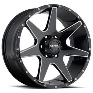 ULTRA WHEELS   TEMPEST 205 GLOSS BLACK RIM with MILLED ACCENTS