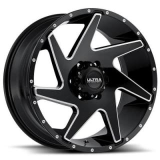 VORTEX 206 GLOSS BLACK RIM with MILLED ACCENTS from ULTRA WHEELS
