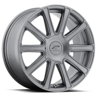 PLATINUM WHEELS  DIVINE 410 GRAPHITE GREY RIM