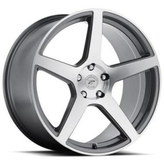 PLATINUM WHEELS  ELITE 432 ANTHRACITE GREY RIM with DIAMOND CUT FACE