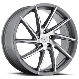 PLATINUM WHEELS  HAWK 433 ANTHRACITE GREY RIM with DIAMOND CUT FACE