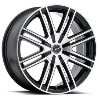 PLATINUM WHEELS  ORION 434 GLOSS BLACK RIM with DIAMOND CUT FACE