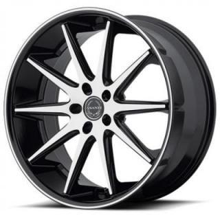 ABL-4 MACHINED FACE RIM with BLACK LIP by ASANTI WHEELS