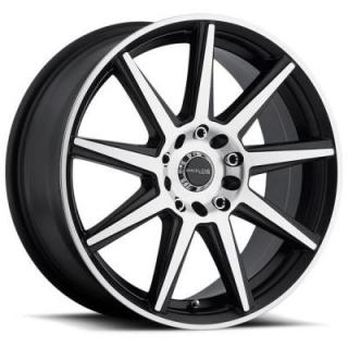 RACELINE WHEELS   144M STORM SATIN BLACK RIM with MACHINED FACE