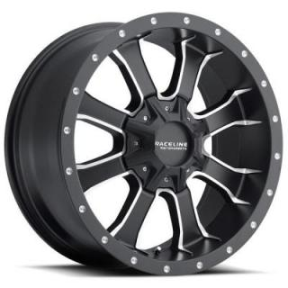 927M MAMBA HD BLACK RIM with MACHINED ACCENTS by RACELINE WHEELS