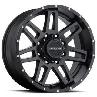 RACELINE WHEELS   931B INJECTOR SATIN BLACK RIM