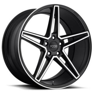 VOSS F164 MATTE BLACK RIM with MACHINED FACE by FOOSE WHEELS