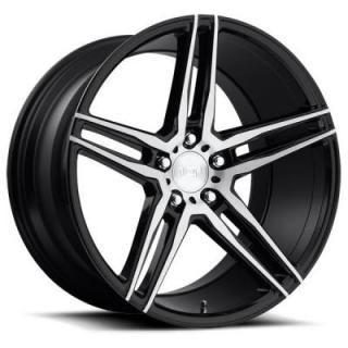 NICHE WHEELS  TURIN M169 GLOSS BLACK BRUSHED RIM