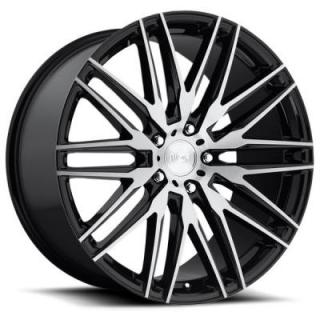 NICHE WHEELS  ANZIO M165 GLOSS BLACK RIM with BRUSHED FACE