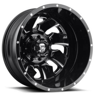 FUEL OFFROAD WHEELS  CLEAVER DUALLY D574 BLACK MILLED REAR RIM