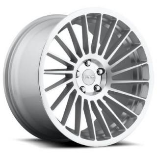 ROTIFORM CAST COLLECTION  IND-T R125 SILVER MACHINED RIM