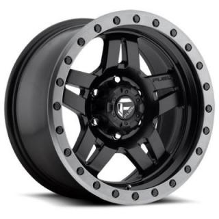 ANZA D557 MATTE BLACK RIM with ANTHRACITE RING by FUEL OFFROAD WHEELS